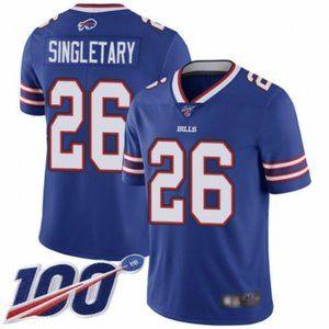 Bills Devin Singletary 100th Season Jersey